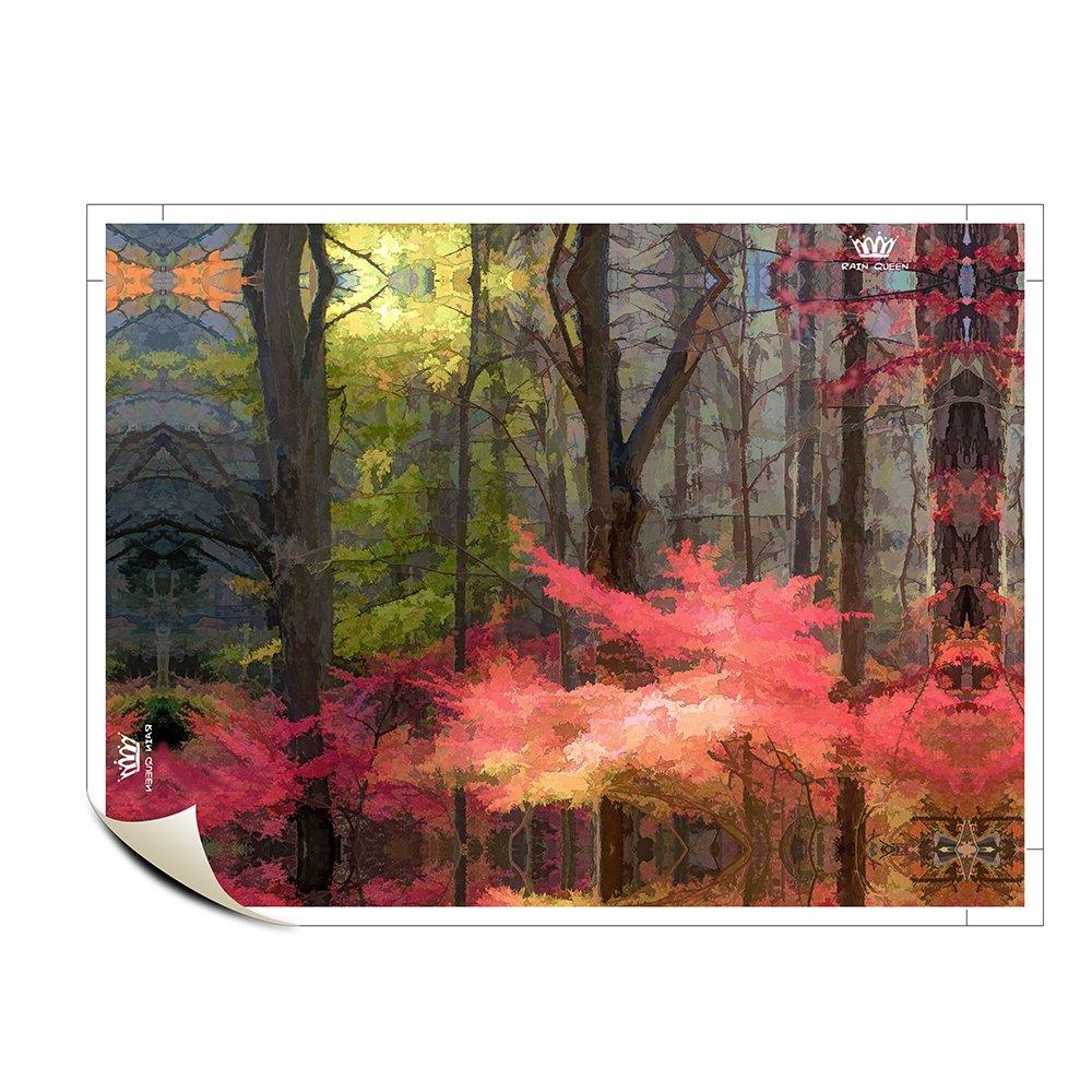 7336aa0ae996 Amazon.co.jp : アートパネル 紅葉 絵画 モダン 壁飾り ポスター 絵画 森 アートパネル キャンバス 玄関 インテリア 絵画花  木枠セット 29.7*42cm : ホーム&キッチン