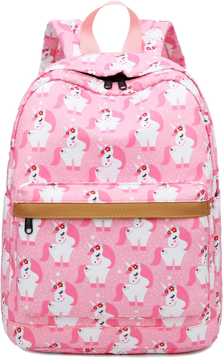 Preschool Backpack for Kids Girls Toddler Backpack Kindergarten School Bookbags (Cute unicorn-Pink)