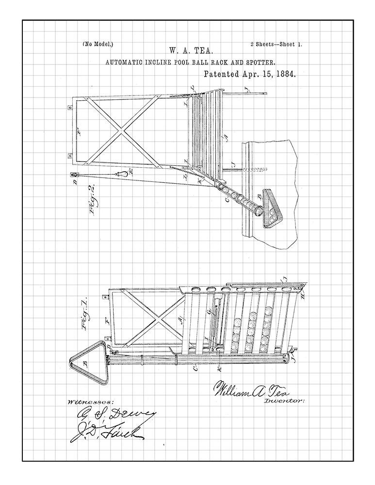 Amazon Com Automatic Incline Pool Ball Rack And Spotter Patent