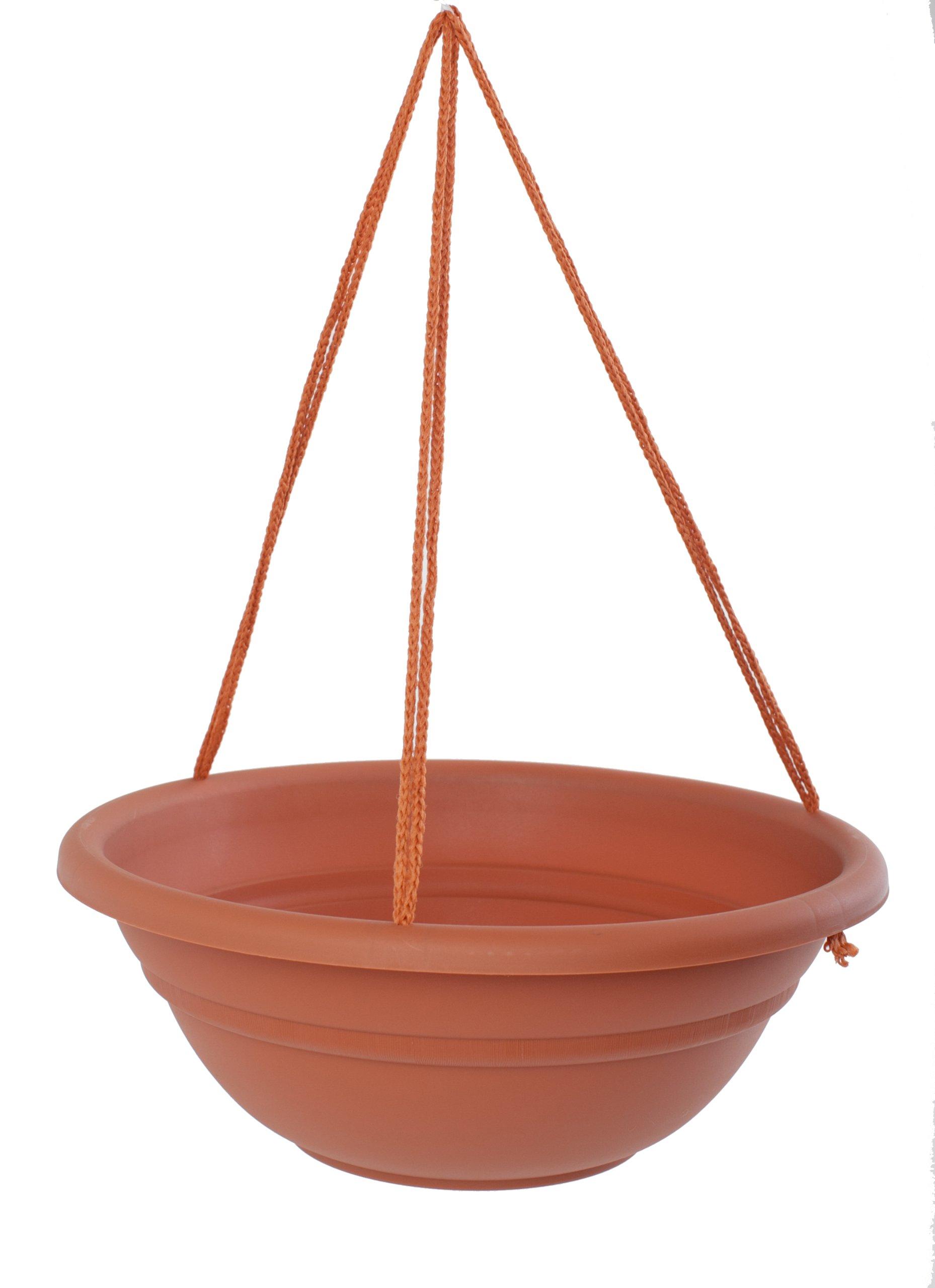 Bloem MBHB151746-12 12-Pack Milano Hanging Basket/Planter, 17-Inch, Terra Cotta