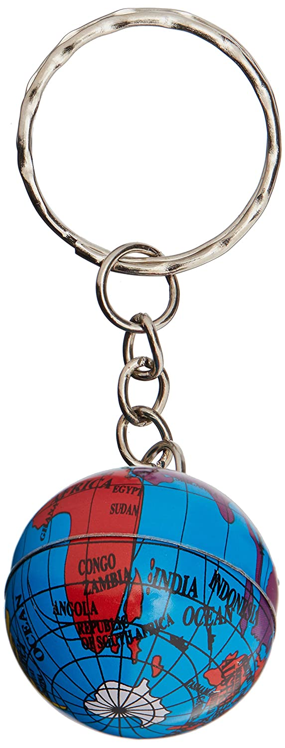 Rhode Island Novelty FBAKCMGLOB Keychain Pack of 12