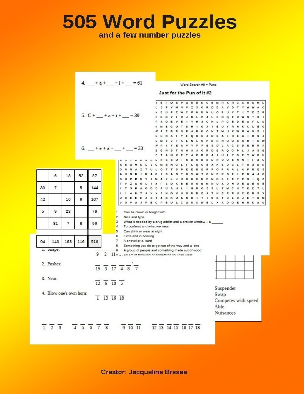 Download 505 Word Puzzles: (and a few number puzzles) ebook