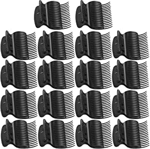 18 Pieces Hot Roller Clips Plastic Hair Curler Claw Clips Roller Clips for Small, Medium, Large and Jumbo Hair Rollers (Black)