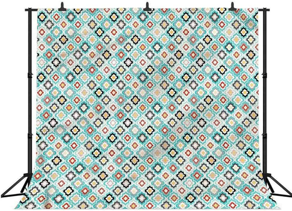 6x6FT Vinyl Photo Backdrops,Moroccan,Dotted Motifs Photoshoot Props Photo Background Studio Prop