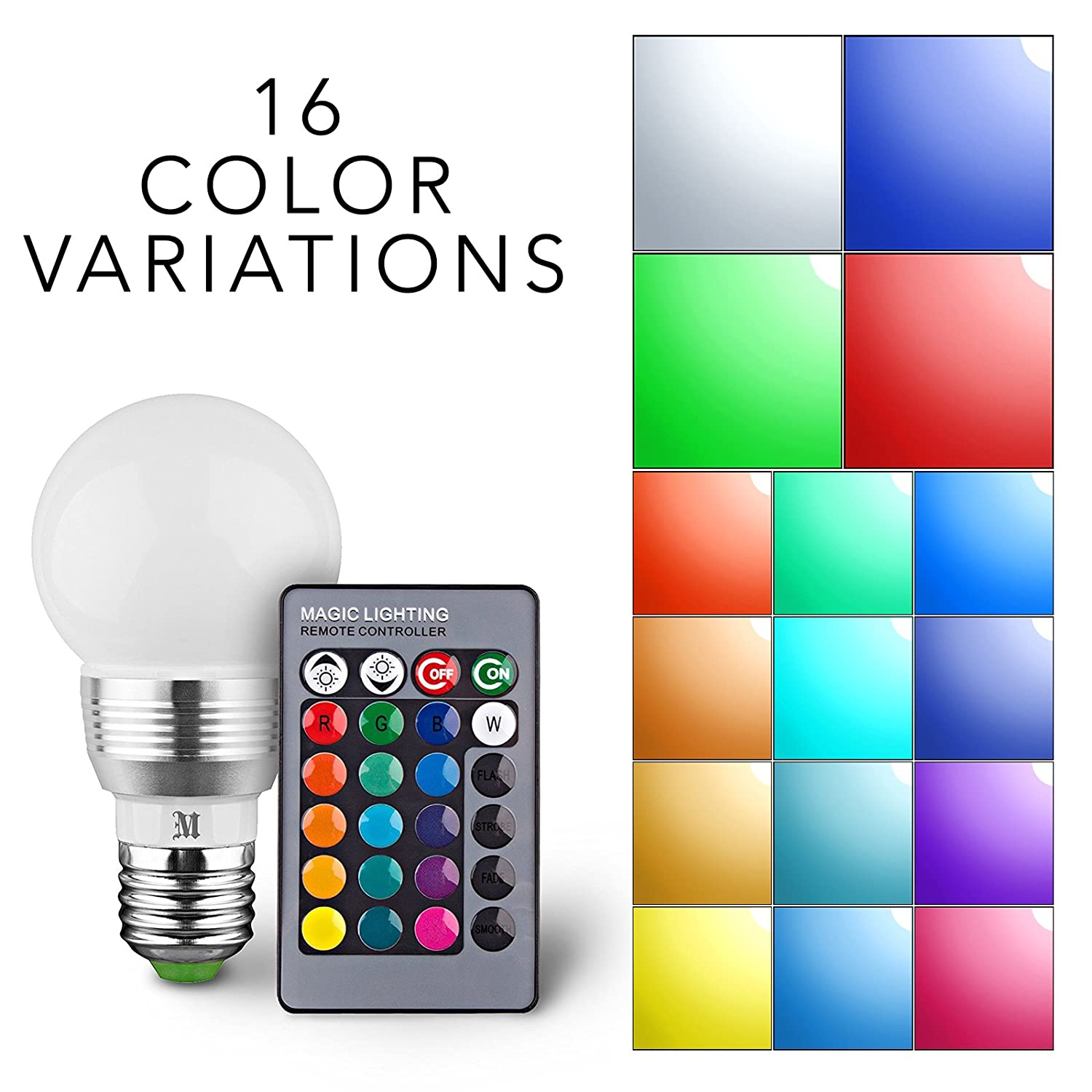 Kobra Retro Led Color Changing Light Bulb With Remote Control 16 Colour They Emit During Normal Operation A Basic Sensor Can Be Different Choices Smooth Flash Or Strobe Mode Premium Quality Energy Saving