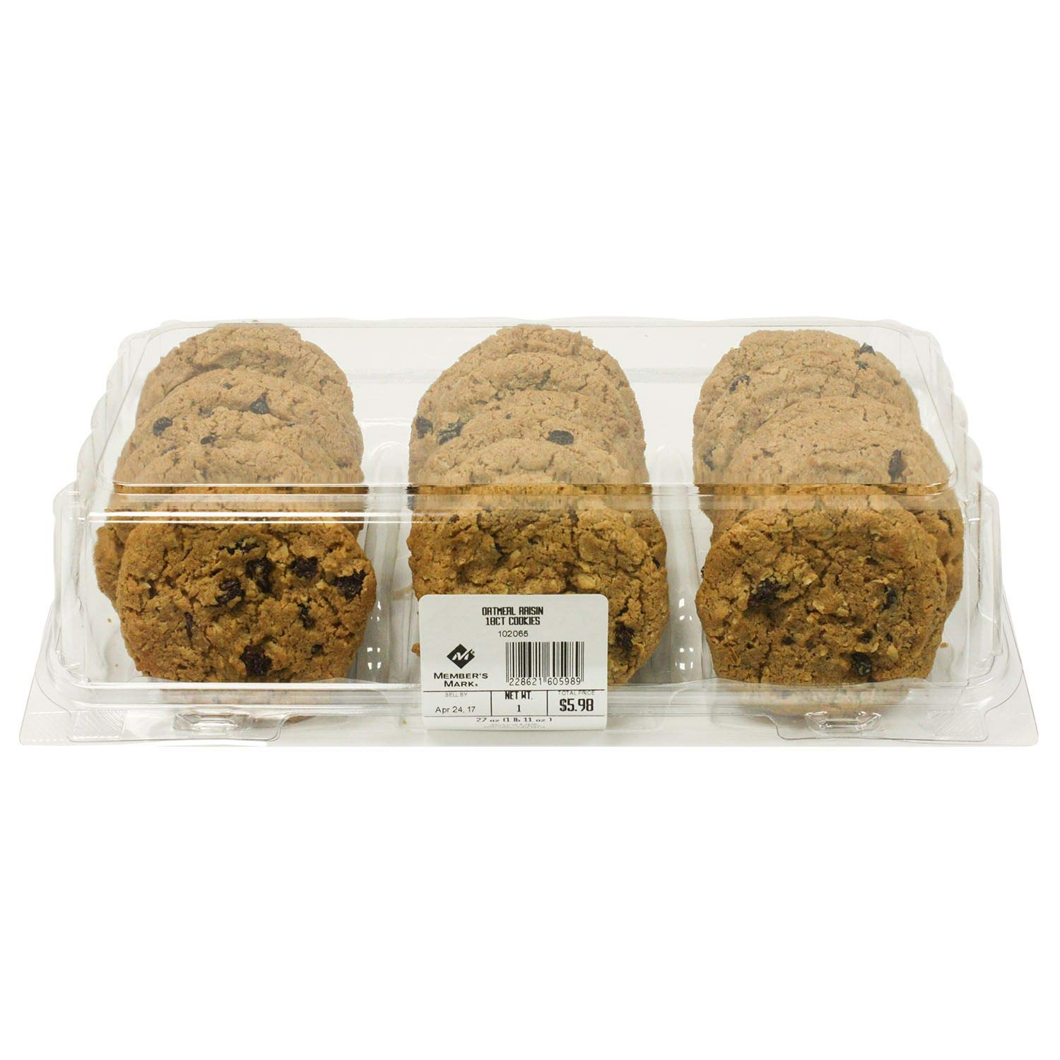 Case Sale: Member's Mark Oatmeal Raisin Cookies 144 ct. (pack of 4) A1