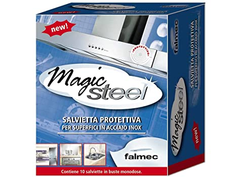 falmec magic steel salviette  Falmec, Magic Steel, Salviette, 10 Pezzi: : Fai da te