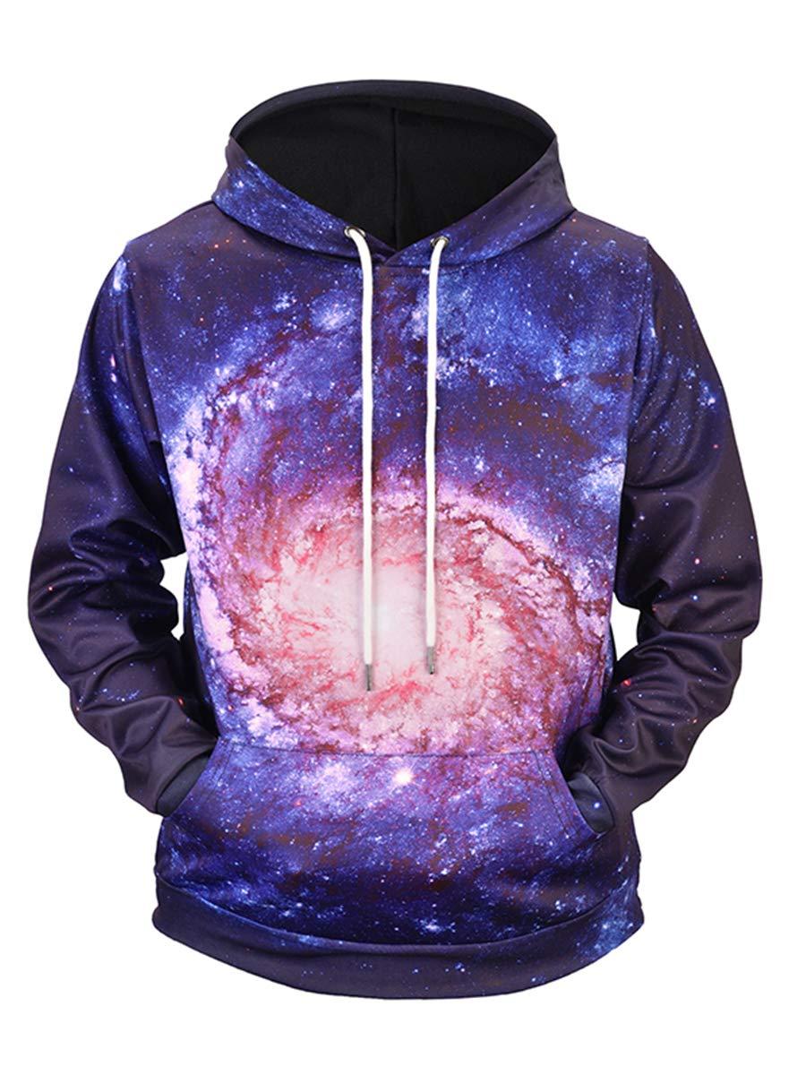 URVIP Unisex Realistic 3D Digital Print Pullover Hoodie Hooded Sweatshirts L6922 XXL by URVIP