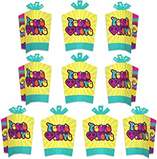 product image for Big Dot of Happiness 60's Hippie - Table Decorations - 1960s Groovy Party Fold and Flare Centerpieces - 10 Count
