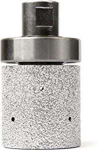 "Z-LION 2"" Diamond Drum Wheel Vacuum Brazed Grinding Sanding Wheel with 5/8-11 Thread for Stone Sink Hole Edge"