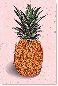 "Awkward Styles Pineapple Poster Wall Art Minimalist Home Decor Prints 8"" x 12"""