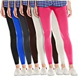 3 & 6 Pack: Women's Slimming Fleece Lined High Waist Leggings - One Size - Assorted Colors