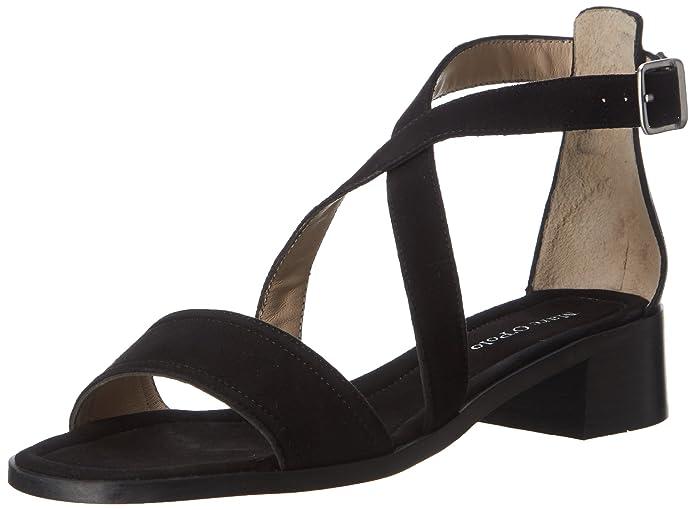 70313971203302 Sandal, Sandales Bout Ouvert Femme - Noir - Schwarz (Black), 38.5Marc O'Polo