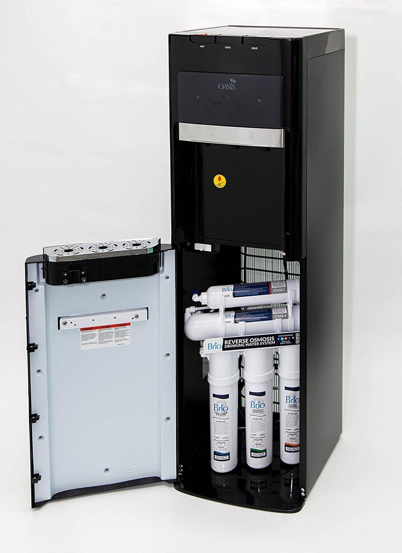 Oasis Bottleless Water Dispenser, Tri-Temp (Hot, Cold, Room-Temp) (5 Stage EZ Change R/O System)