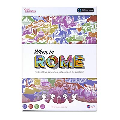 Voice Originals - When in Rome Travel Trivia Game Powered by Alexa: Toys & Games [5Bkhe1402407]