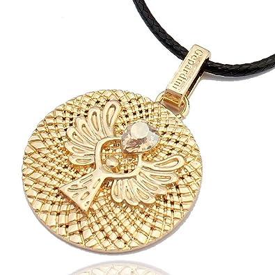 Gepardini Schutzengel Amulett Halskette mit SWAROVSKI® Edition ...