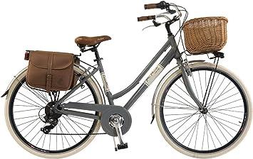 Via Veneto By Canellini Bicicleta Bici Citybike Ctb Mujer Vintage Retro Via Veneto Aluminio (Gris, 46): Amazon.es: Deportes y aire libre