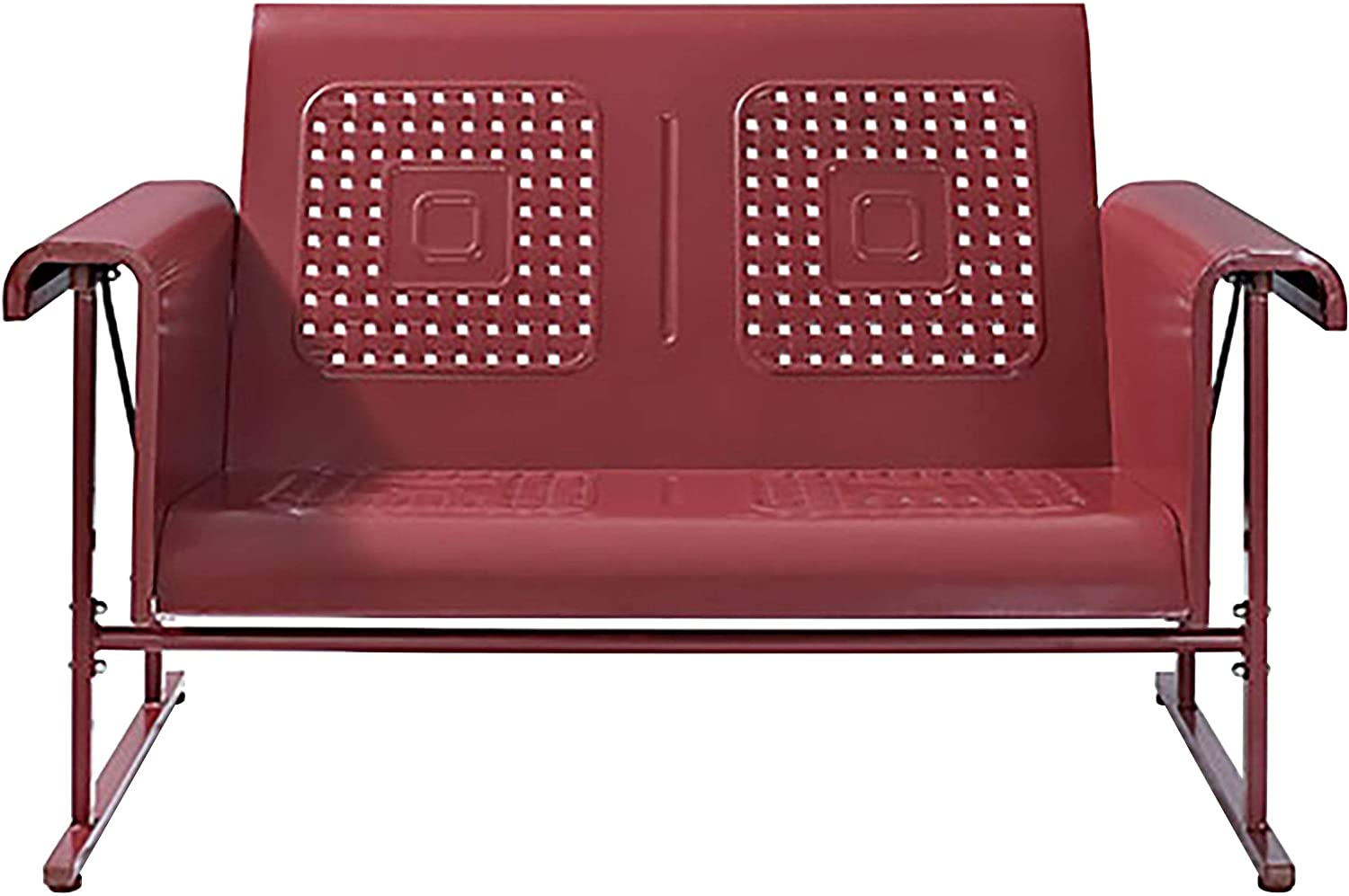 Crosley Furniture CO1027-RE Veranda Loveseat Glider, Coral Red