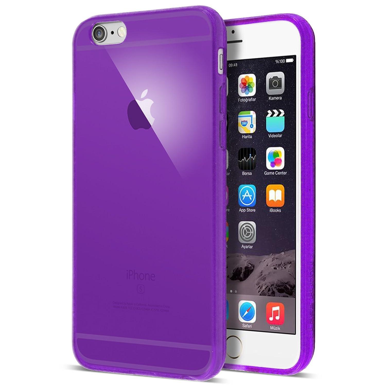 3e208e4bd73807 iPhone 6 Case, Transparent Purple Soft TPU Gel Cover: Amazon.co.uk:  Electronics