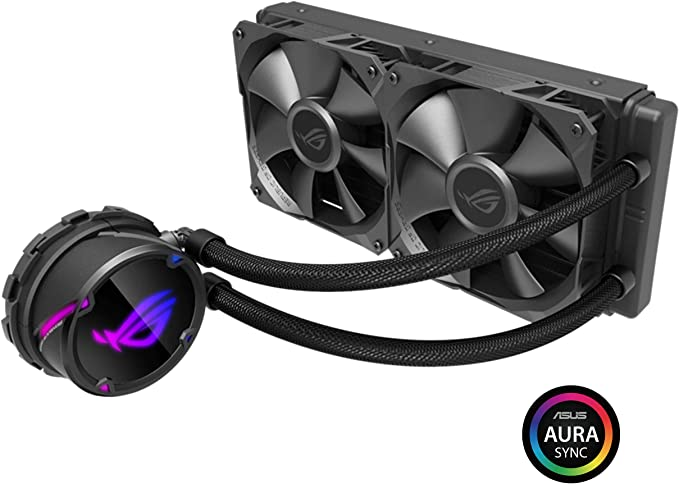 ASUS ROG Strix LC 240 RGB AIO Liquid CPU Cooler 240mm Radiator Dual 120mm 4Pin PWM Fans with Fanxpert Controls Support for Intel and AMD Motherboards at Kapruka Online for specialGifts
