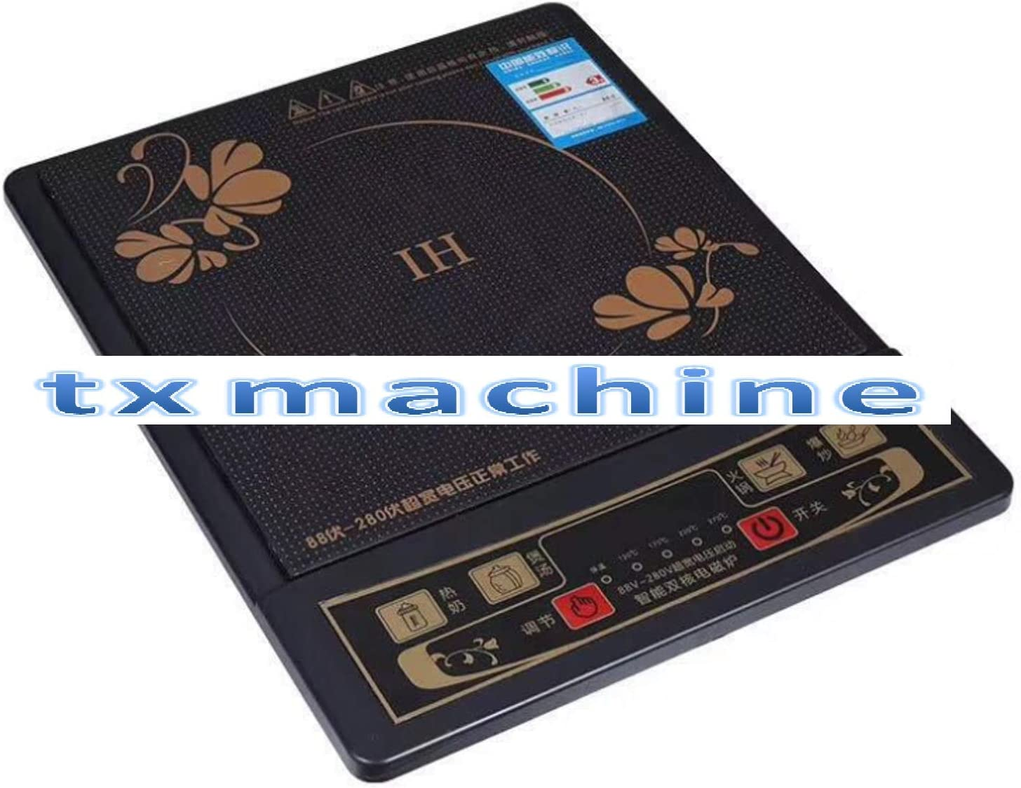 TX two types Induction Cooker 2200w 5 Pre-Programmed Induction Cooktop Electric Burner (110V/60HZ, Keyboard)
