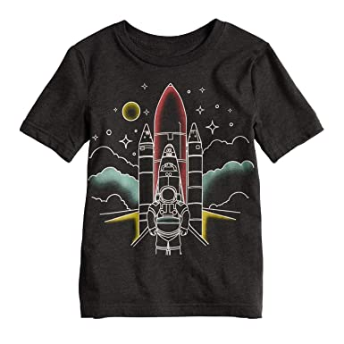 Amazon Com Jumping Beans Boys 4 10 Rocket Astronaut Faded Graphic