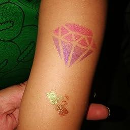 7 stars Kit de Tatuajes Temporales, Tatuaje de Brillo para Niños y ...