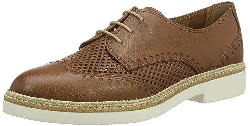 23708, Zapatos de Vestir para Mujer, Marrón (Cognac 305), 41 EU Tamaris