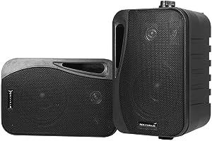 """(2) Rockville HP4S-8 BK 4"""" Outdoor/Indoor Swivel Home Theater Speakers in Black, 4 inch 8 Ohm"""