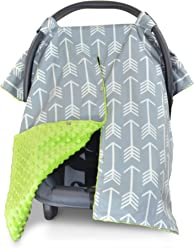 Premium Carseat Canopy Cover and Nursing Cover-   Arrow Cover   Protects Newborns   Fashionable Baby Decor   Perfect Baby Shower Gift