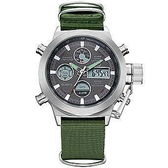 Watches Men Cool Calendar Watches Nylon Fabric Canvas Men Sports Watch Students Dress Hours Wristwatch