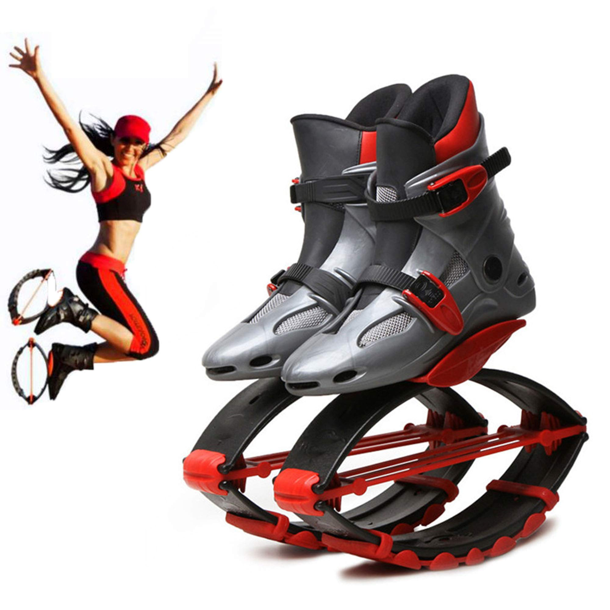 Jump Shoes Bounce Anti-Gravity Fitness Jumping Shoes Unisex Children Adult Running Boots,M by H&M Bouncing shoes (Image #1)