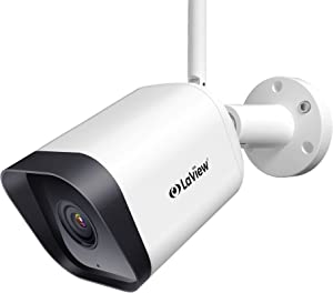 Laview Security Camera Outdoor,Home Security Camera 1080P,Outdoor Camera Waterproof,WiFi Camera with AI Human Detection,Two-Way Audio,Night Vision,Works with Alexa,SD Slot&USA Cloud Storage