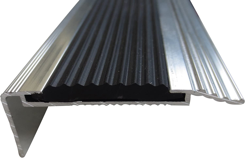 B-Ware 20 mm x 40 mm x 1,15 m Silber verschiedene Gr/ö/ßen Treppenkanten Winkelprofil Treppenwinkelprofil Treppenprofil Treppenstufenprofil