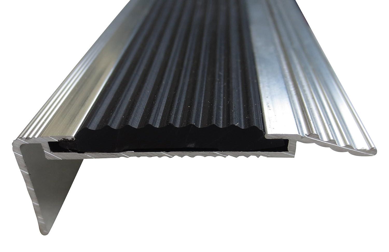 B-Ware 21 mm x 45 mm x 80 cm Grau//Anthrazit verschiedene Gr/ö/ßen Treppenkanten Winkelprofil Treppenwinkelprofil Treppenprofil Treppenstufenprofil