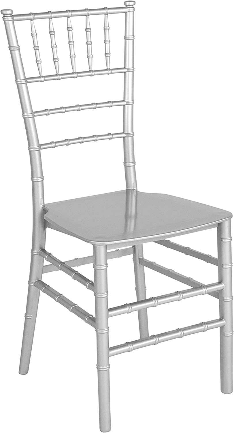 Flash Furniture HERCULES Series Silver Resin Stacking Chiavari Chair