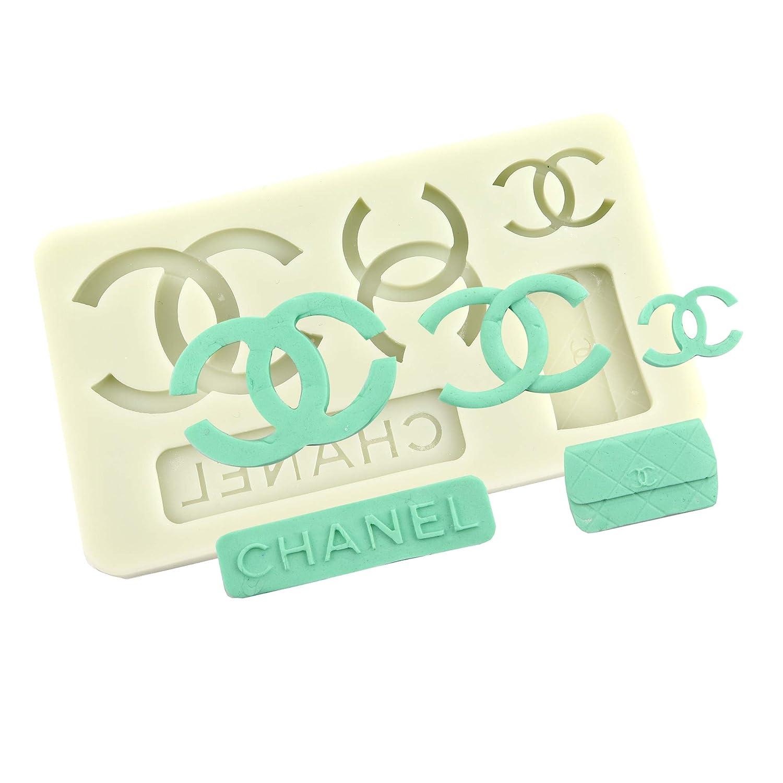 Fashion Brand OCreme Designer-Logo Silicone Fondant Mold