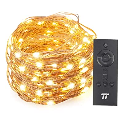 TaoTronics 66ft 200 LED String Lights with RF Remote Control, Valentine's Day Decorations Lights with Multiple Lighting Modes, Super Soft Copper Wire Waterproof for Outdoor & Indoor Decorative Lights : Garden & Outdoor