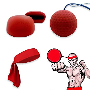 Boxing Punch Fight Training Ball Reflex Speed Reaction Combat Trainer Exercise