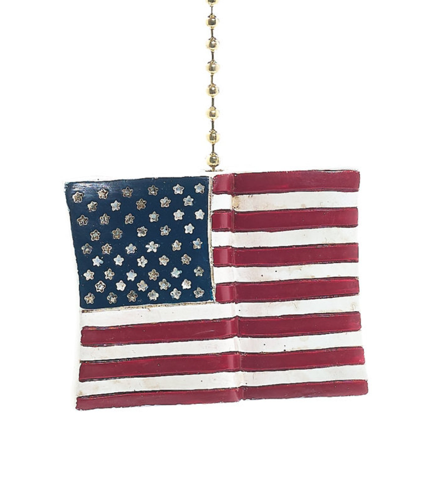 USA Patriotic American Flag Fan Pull Decorative Light Chain by Clementine Design
