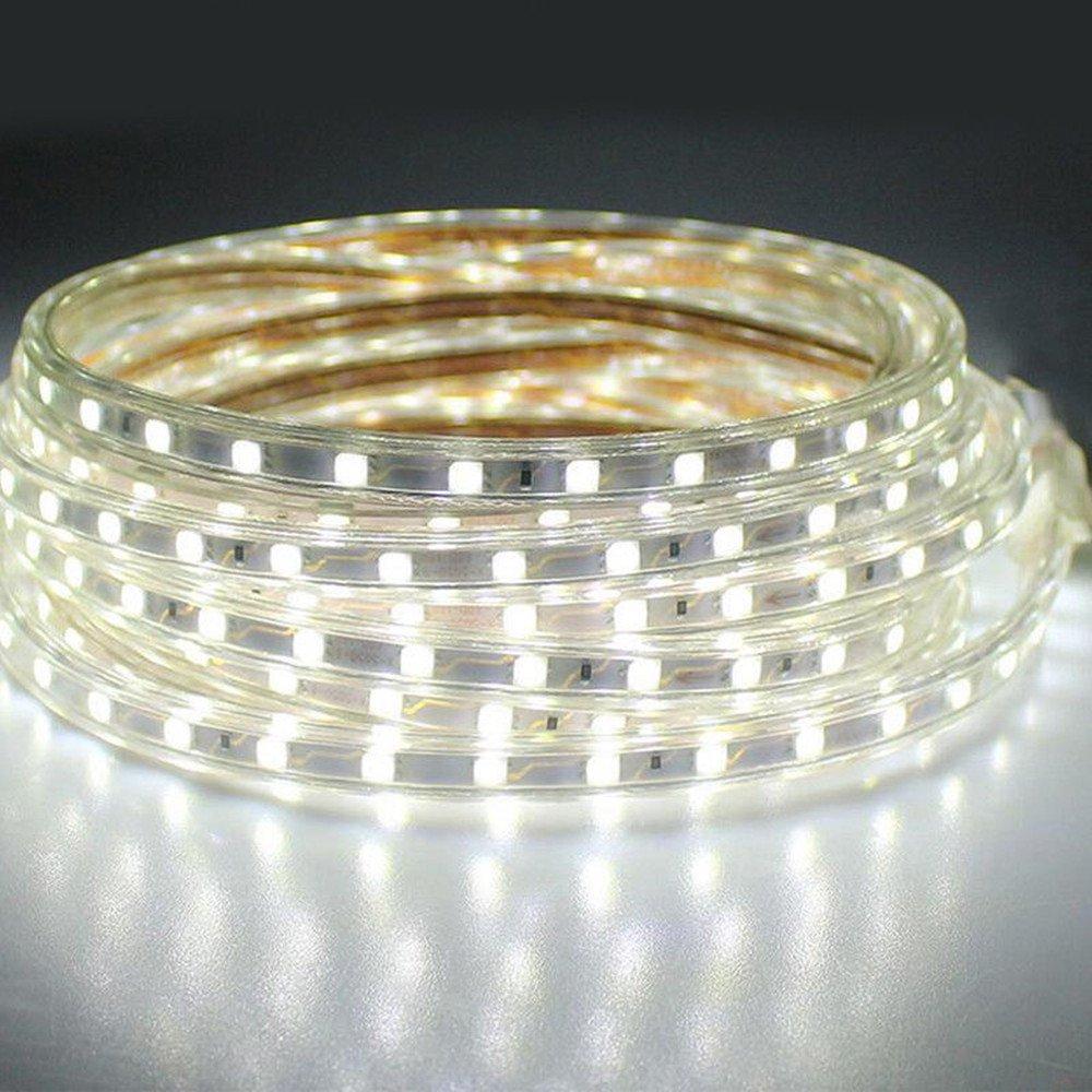 colinkind LED Strip Lights Kit, Waterproof Outdoor White LED Rope Lights 66ft 5050 SMD 110V Party Wedding LED String Lights with Plug for Xmas Festival Decor DIY LED Lighting (66ft Daylight White)