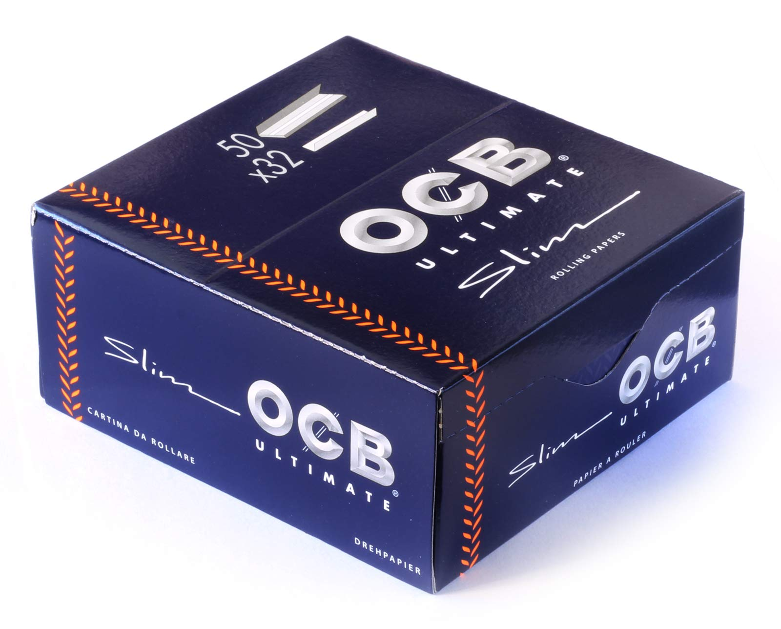 OCB 15428 Ultimate Rolling Papers (Papers 50 Booklets, A 32 Sheets Blue
