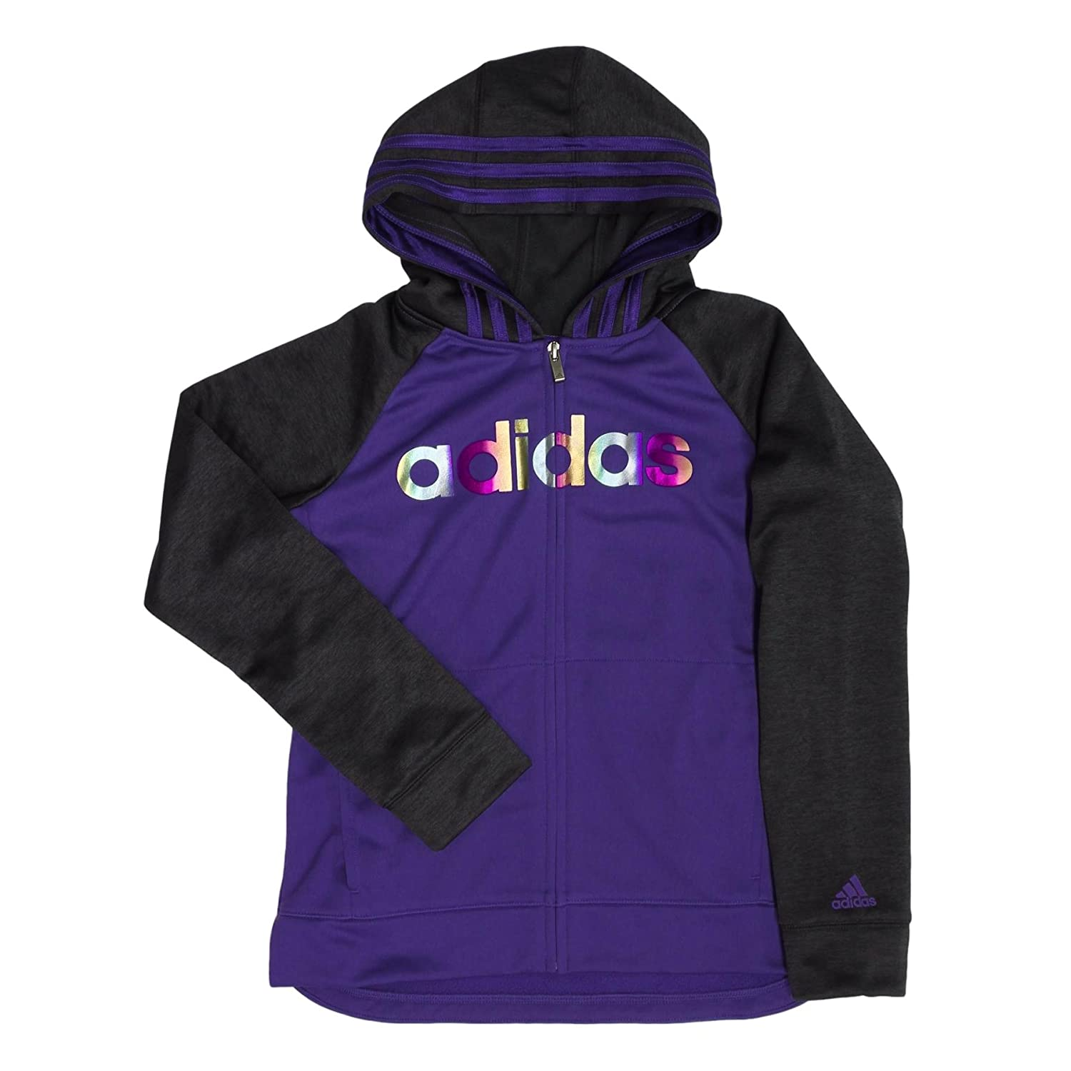 adidas Active Full Zip Hoodie for Girls Medium/10-12)