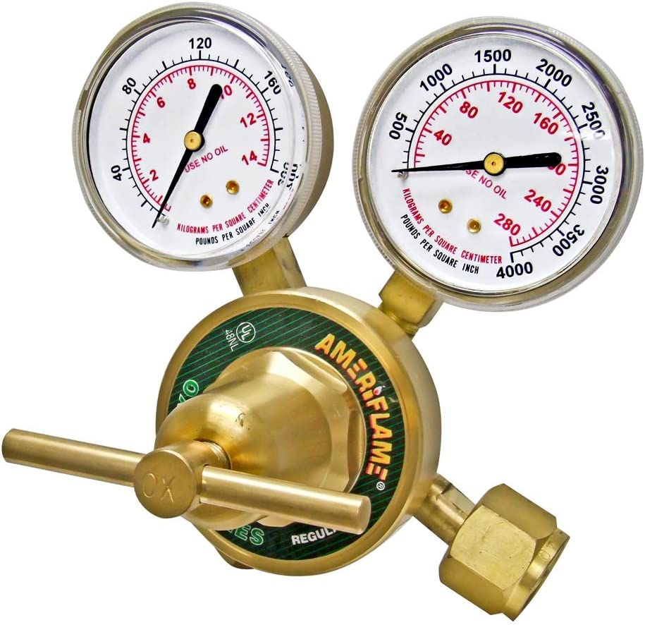 Ameriflame R350-540 Heavy Duty Single Stage Oxygen Regulator with CGA540 Inlet