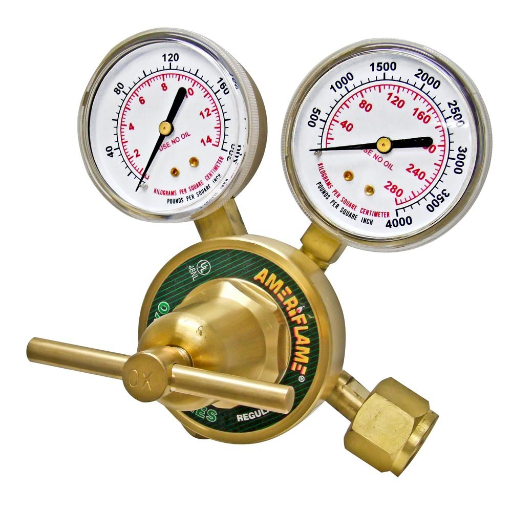 Ameriflame R350-540 Heavy Duty Single Stage Oxygen Regulator with CGA540 Inlet Uniweld Products Inc.