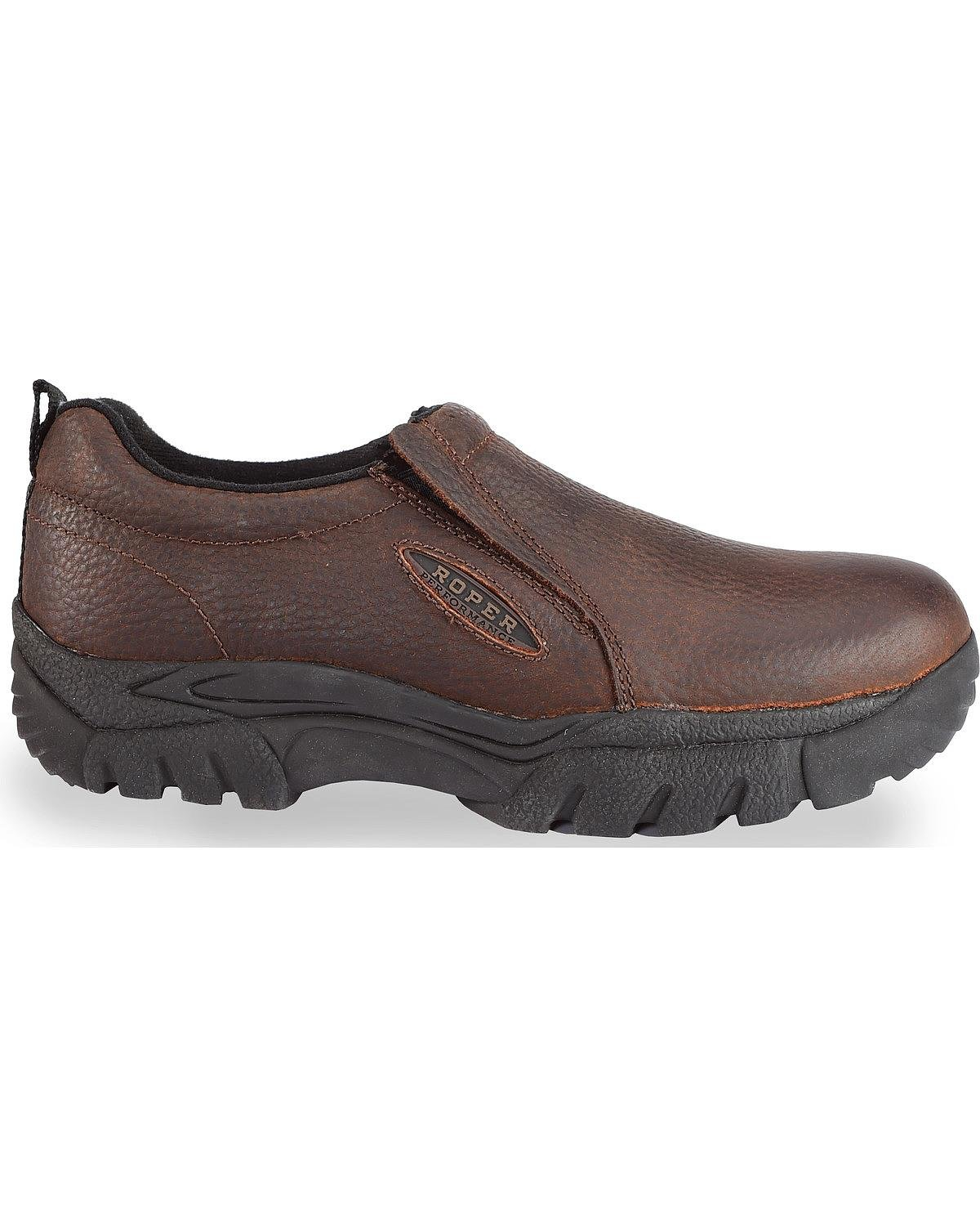 Roper Women's Performance Sport Slip-On Casual Shoes Round Toe Brown B00FSE3SPW 8.5 B(M) US Brown