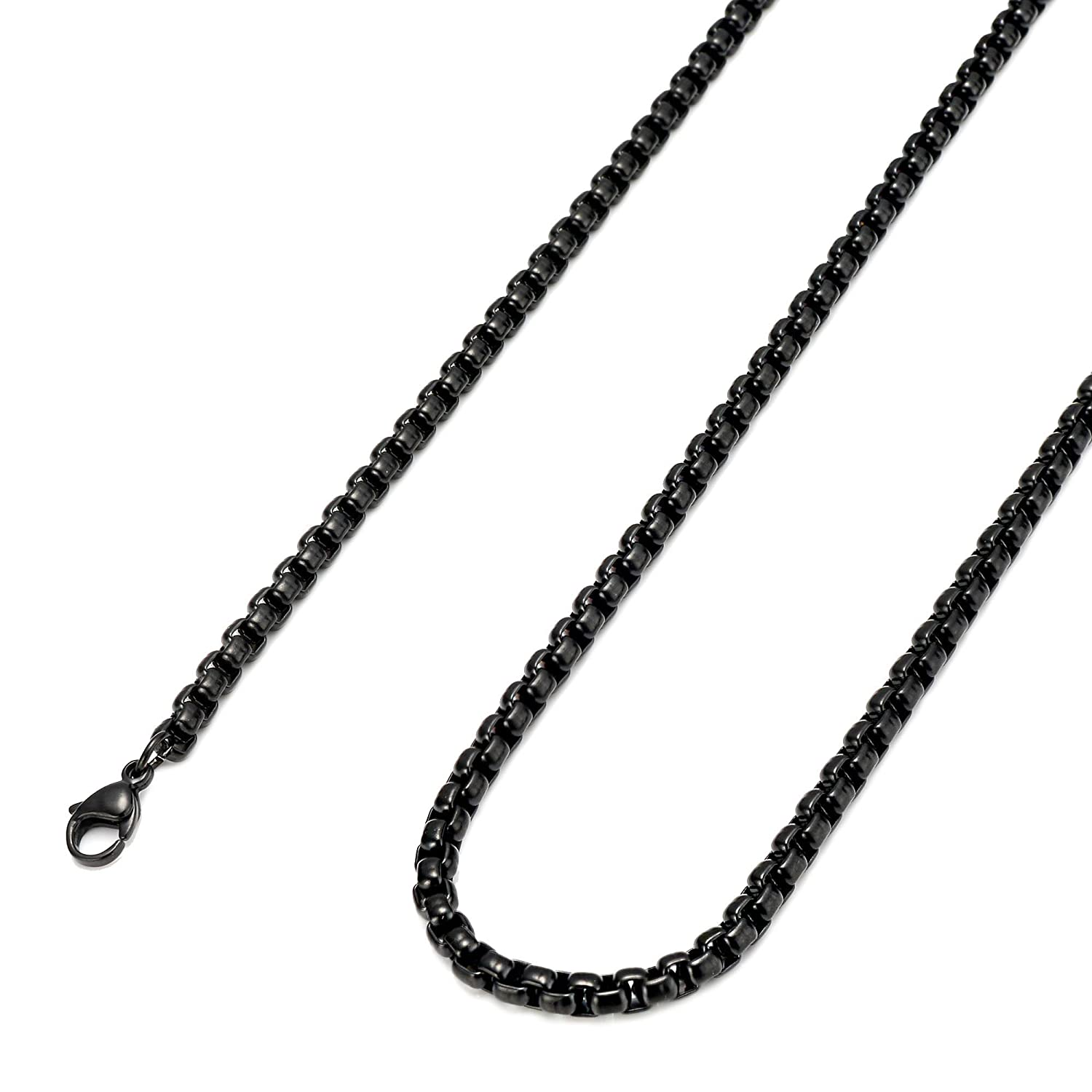 FIBO STEEL 2-4MM Stainless Steel Mens Womens Necklace Rolo Cable Chain, 16-36 inches 16 inches 3MWNZ093-2MM-41