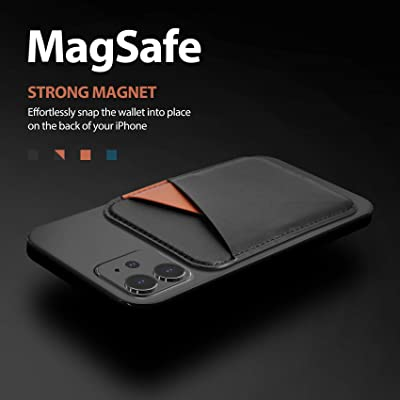 RFID Card Holder Wallet Baltic Blue Max 3 Cards Magnetic Leather Wallet with MagSafe for iPhone 12//12 Mini//12 Pro//12 Pro Max