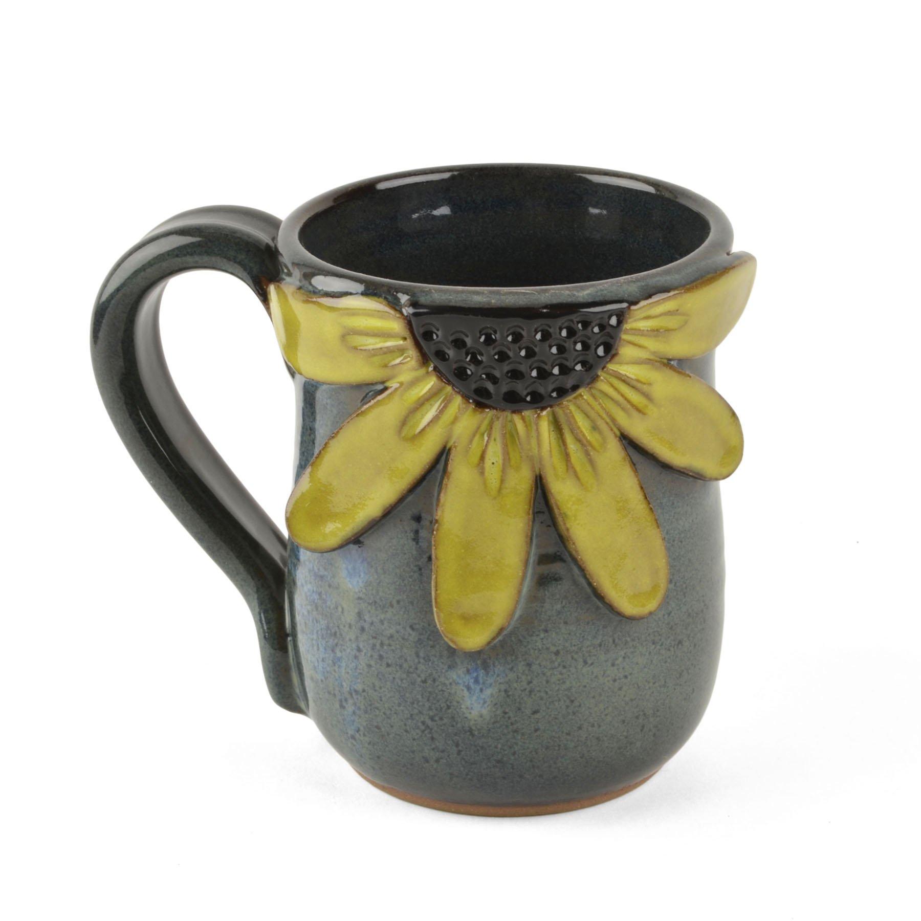 MudWorks Pottery Black-Eyed Susan Mug by MudWorks Pottery