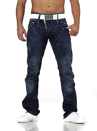 716c47f6f89c Cipo   Baxx Jeans Hose dunkelblau C-768 29 30, Dunkelblau